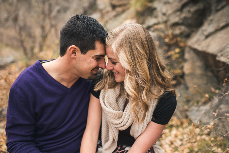 Golden Engagement Photography smiling couple