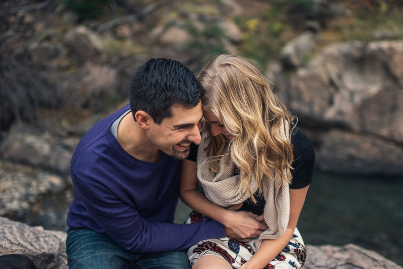 Golden Engagement Photography laughter
