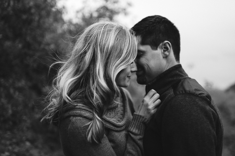 Golden Engagement Photography black and white