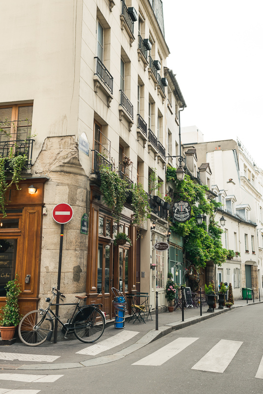 paris street with bicycle