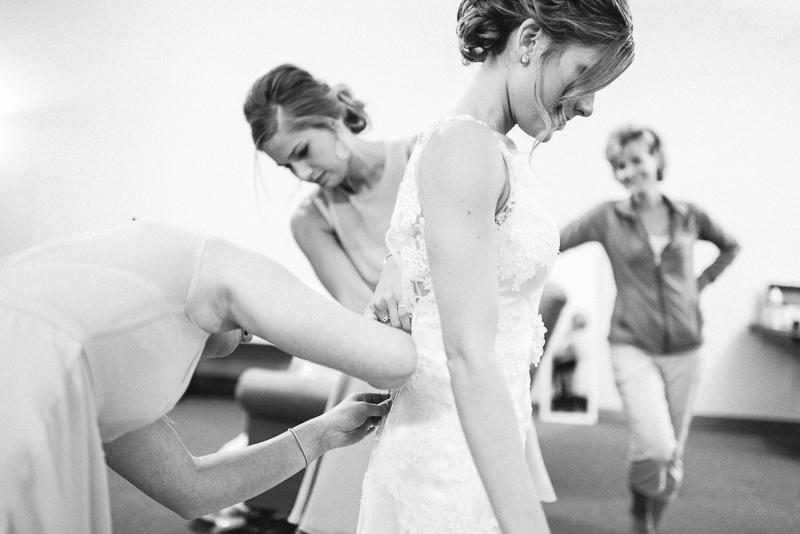 Denver wedding photography zipping dress