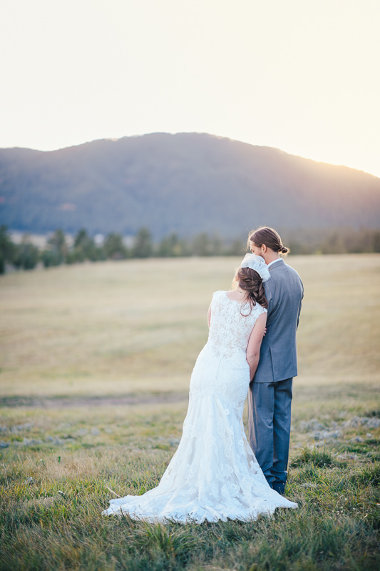 Denver Wedding Photography bride and groom sunset