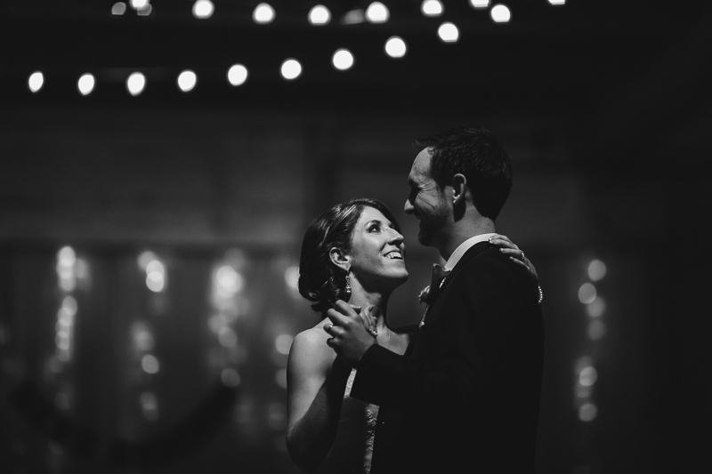 Denver Wedding Photography black and white first dance