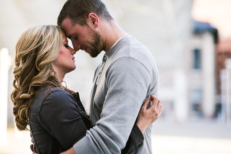 Denver Engagement Photography quiet touching couple