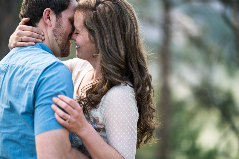 Boulder Engagement Photography almost kissing
