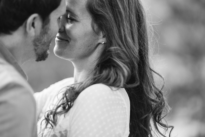 Boulder Engagement Photography black and white kiss