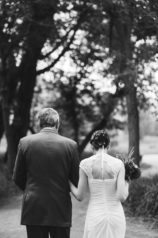 chatfield botanic gardens wedding photography father and bride