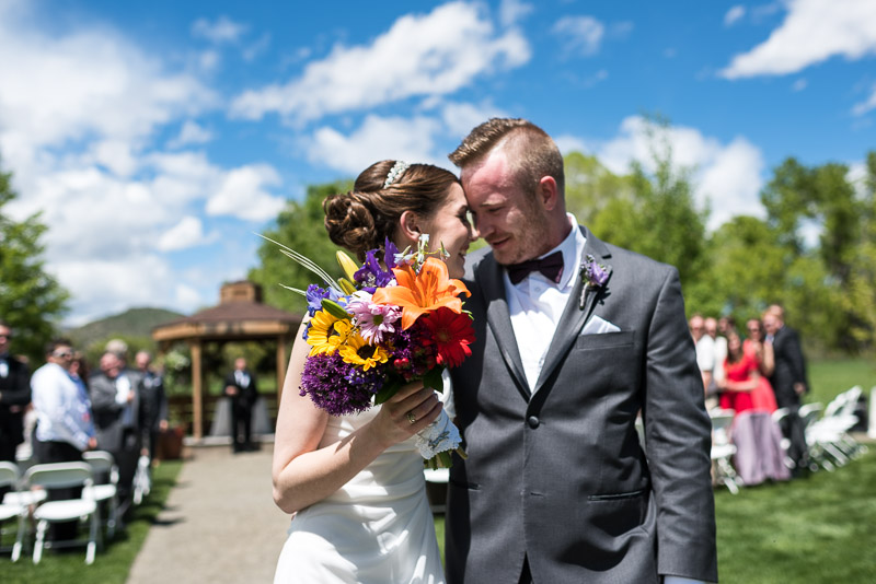 chatfield botanic gardens wedding photography just married