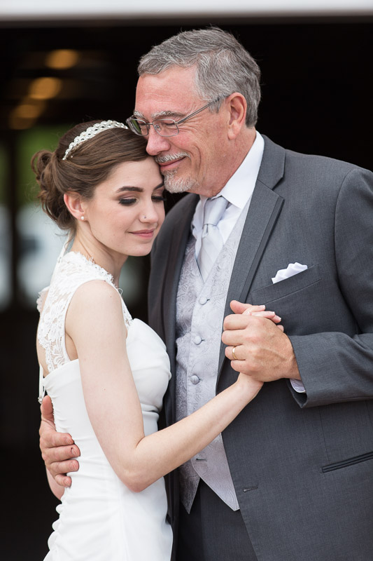 chatfield botanic gardens wedding photography father daughter dance smile