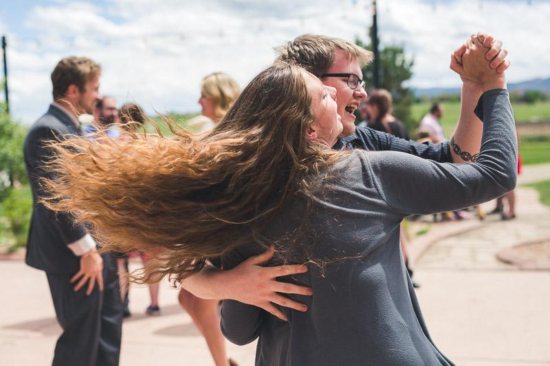 chatfield botanic gardens wedding photography dancing