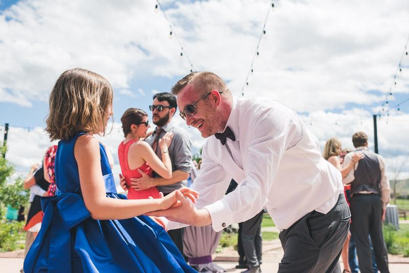 chatfield botanic gardens wedding photography groom dancing