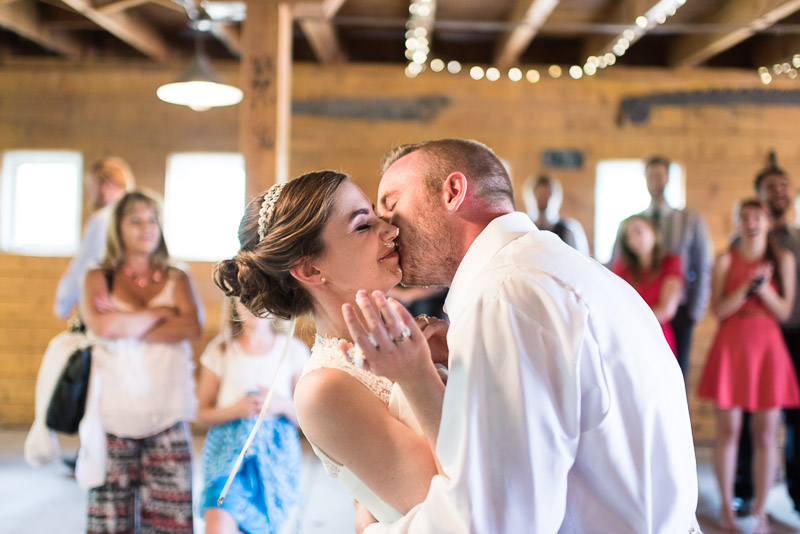 chatfield botanic gardens wedding photography messy kiss