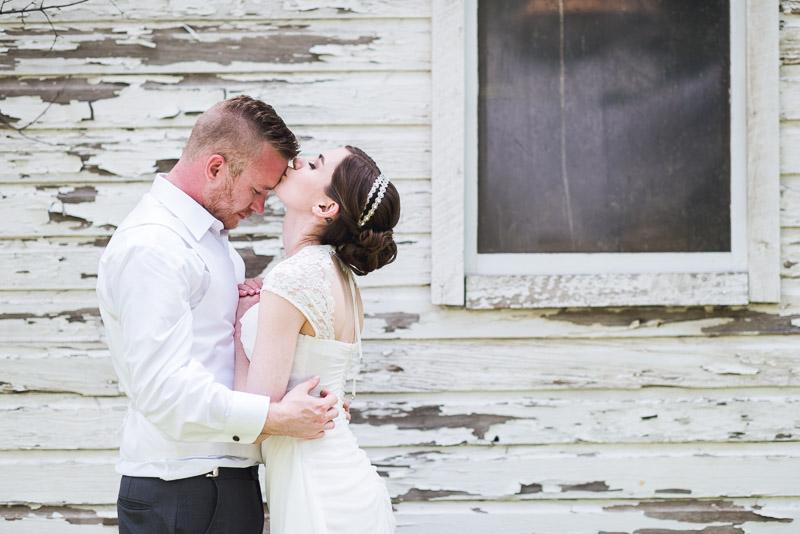 chatfield botanic gardens wedding photography forehead kiss
