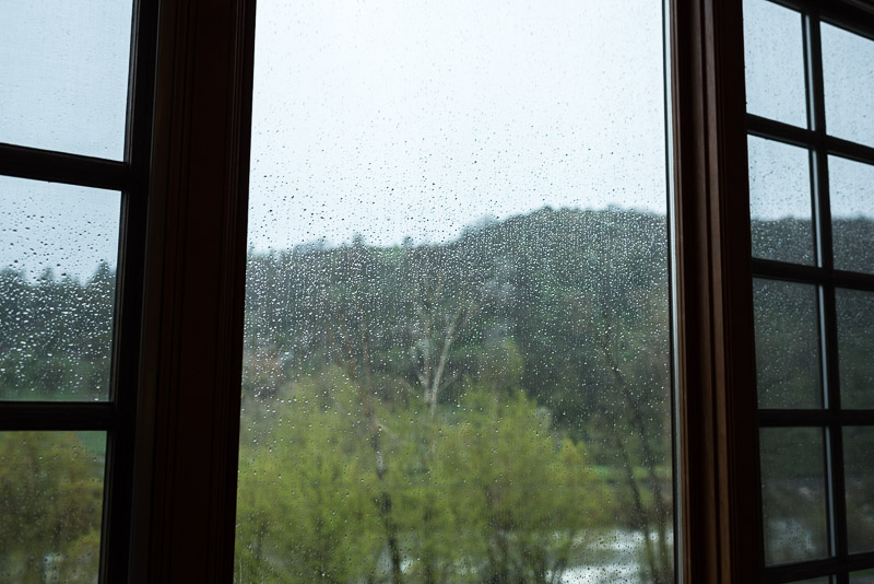 steamboat springs wedding photography rainy window