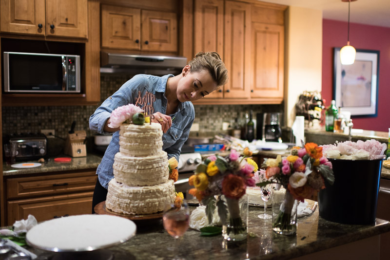 steamboat springs wedding photography cake
