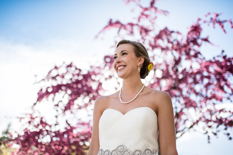 steamboat springs wedding photography smiling bride