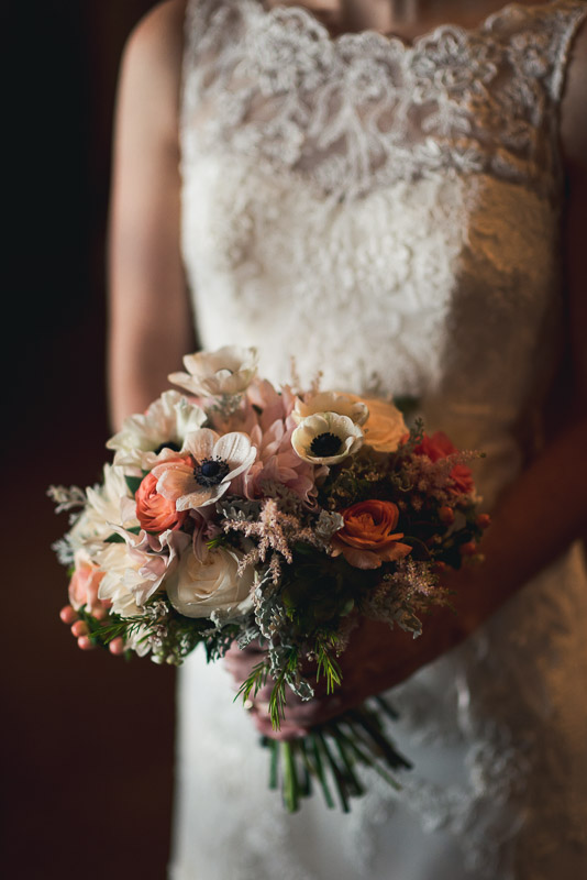 Denver Wedding Photography Cherokee Ranch and Castle bouquet window light