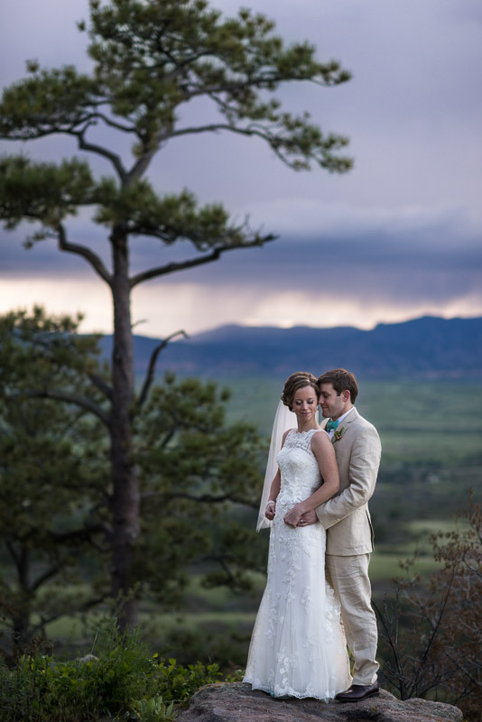 Denver Wedding Photography Cherokee Ranch and Castle storm clouds
