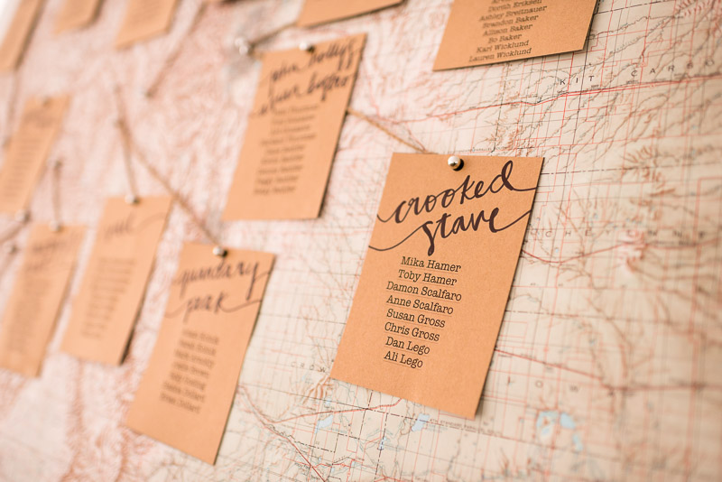 Denver Wedding Photography Cherokee Ranch and Castle seating chart