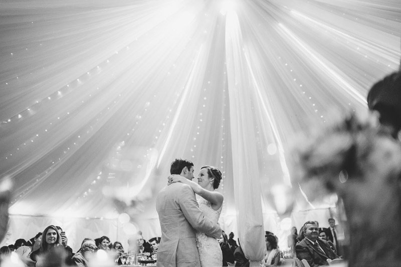 Denver Wedding Photography Cherokee Ranch and Castle first dance tent