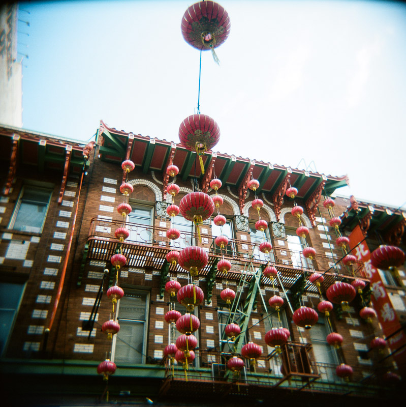 San Francisco chinatown film holga