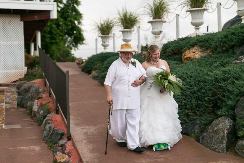 morrison willow ridge manor wedding photographer father walking bide down aisle