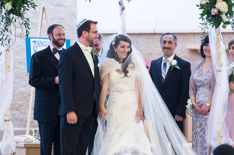 denver jewish wedding photographer happy couple