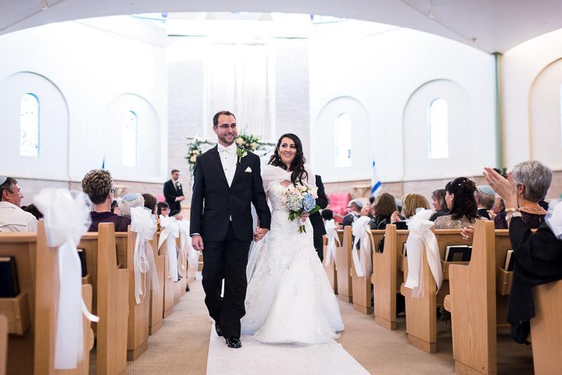 denver jewish wedding photographer recessional