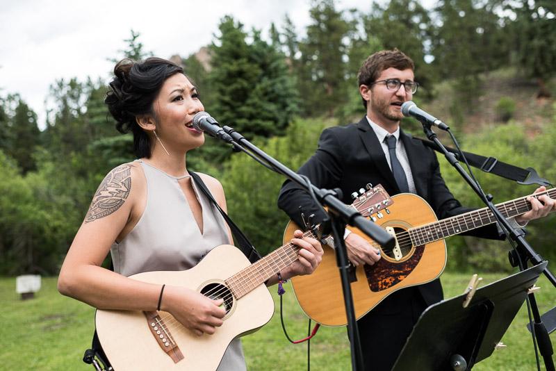Emily and Ryan Lower Lake Ranch Wedding Photography singing