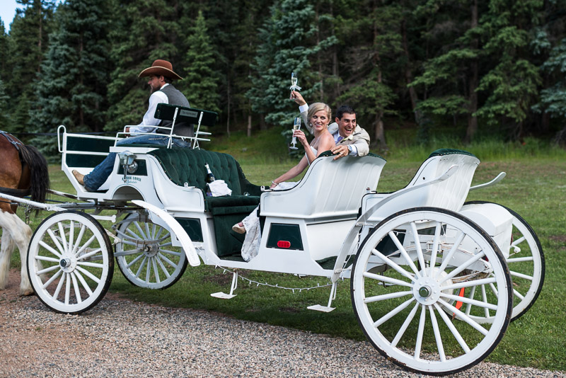 Emily and Ryan Lower Lake Ranch Wedding Photography ride away