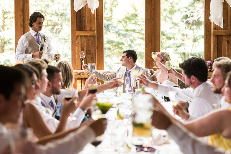 Emily and Ryan Lower Lake Ranch Wedding Photography toasts