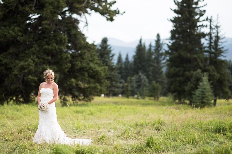 Cuchara Wedding Photographer bride in field