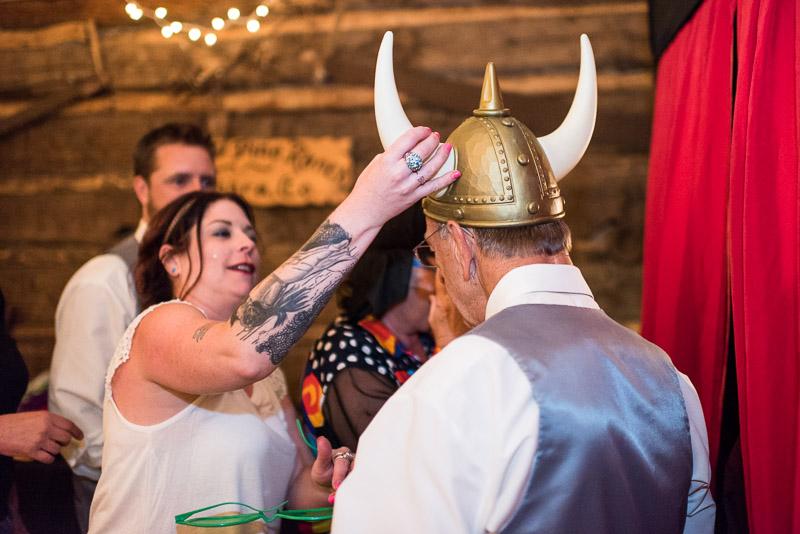 Cuchara Wedding Photographer viking helmet
