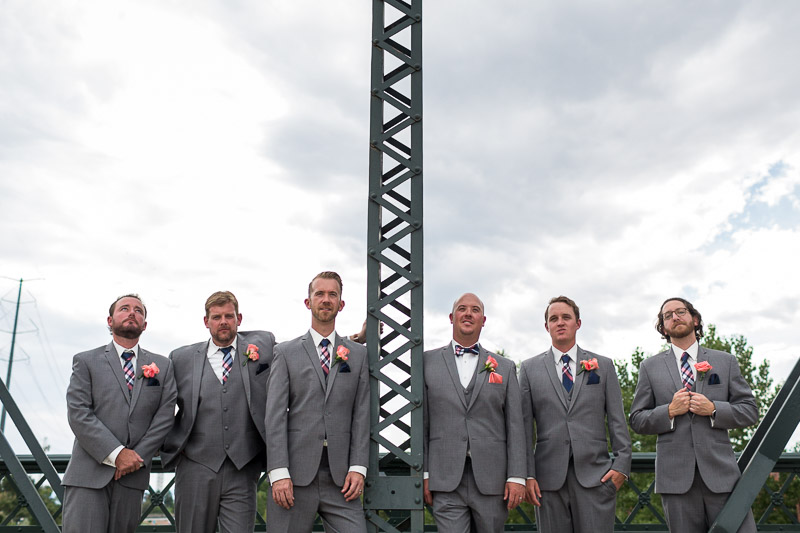 Denver athletic club wedding bridge