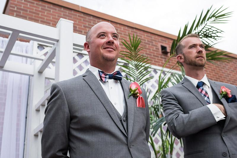 Denver athletic club wedding groom