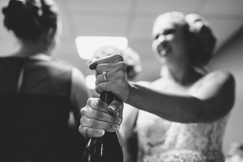 Denver athletic club wedding champagne