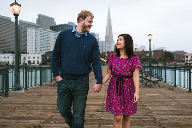 San Francisco engagement photography pier 7