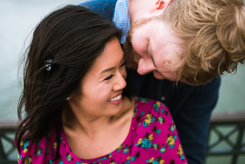 San Francisco engagement photography laughing couple