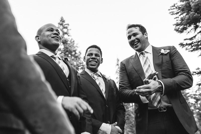 Lake Tahoe Wedding Photographer laughing guys