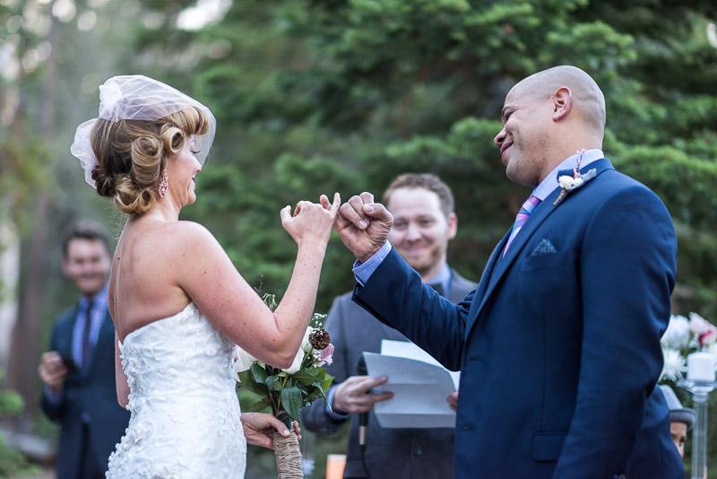 Lake Tahoe Wedding Photographer pinkie swear