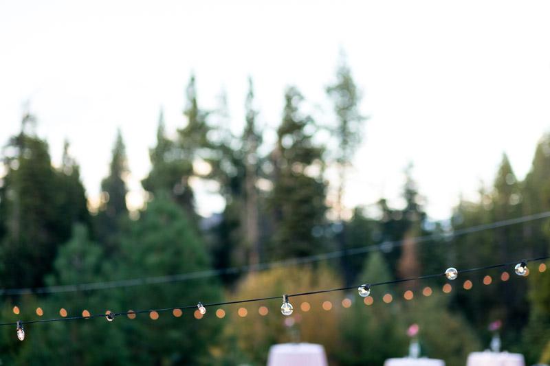 Lake Tahoe Wedding Photographer bistro lights