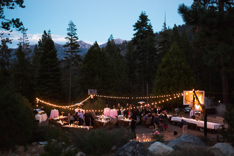 Lake Tahoe Wedding Photographer outdoor reception