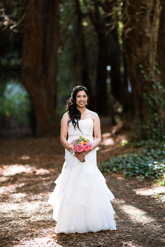 San Francisco Wedding Photography bride with bouquet