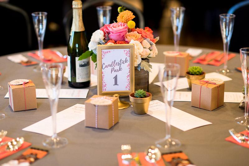 San Francisco Wedding Photography table decorations