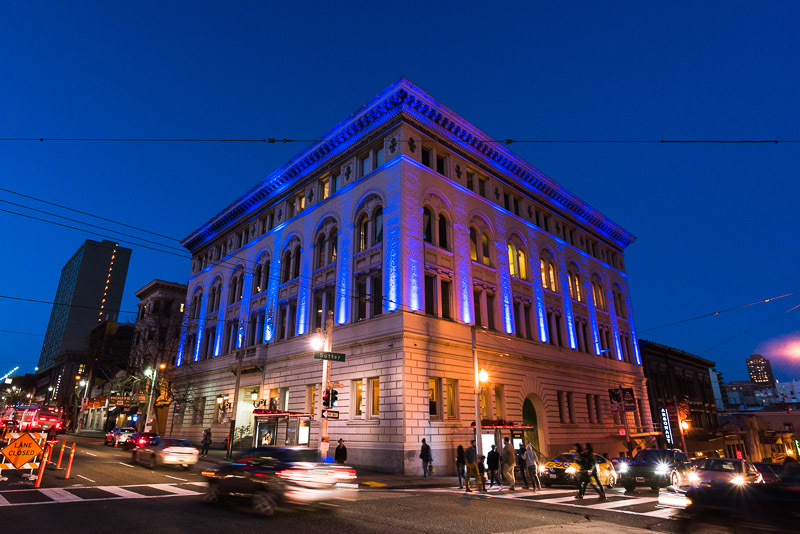 regency center sf at night