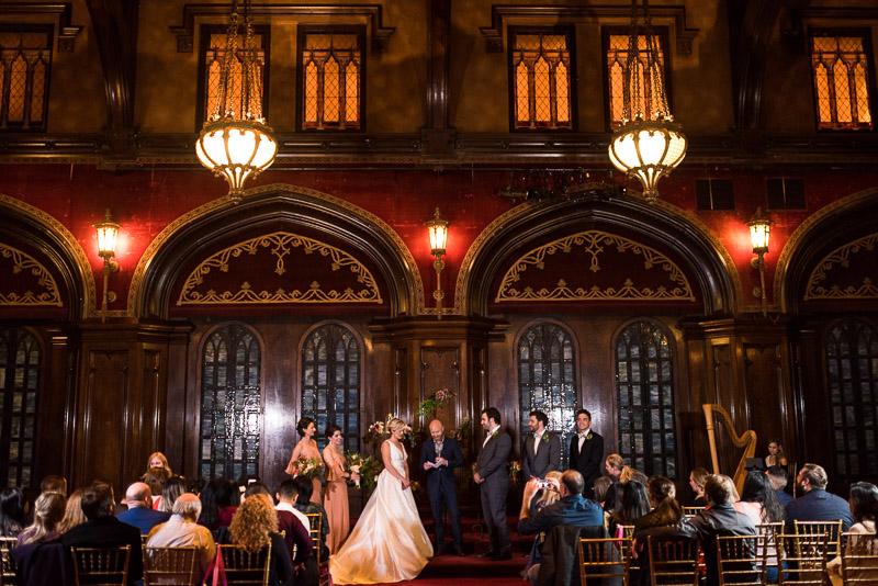 ballroom night wedding ceremony