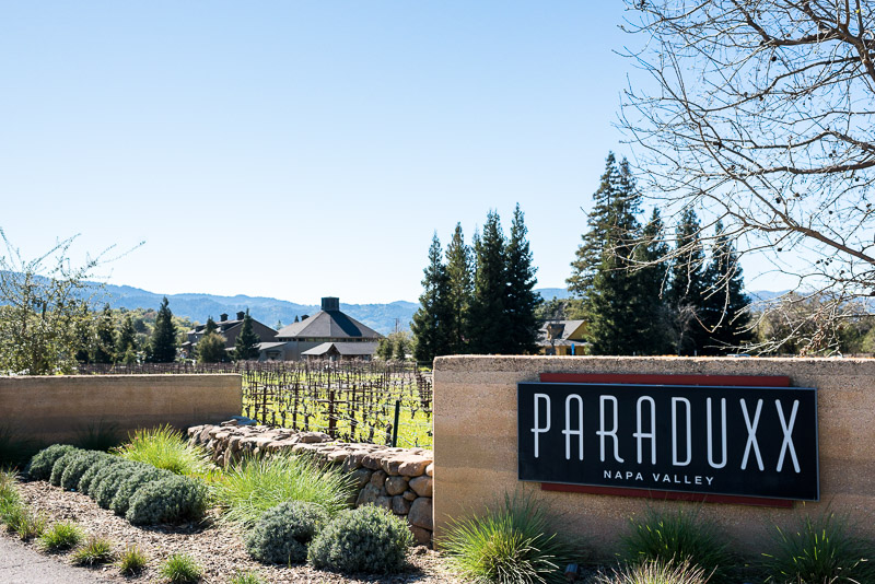 Napa Vineyard Proposal Photography paraduxx winery sign