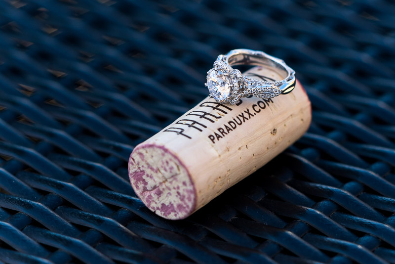 Napa Vineyard Proposal Photography paraduxx winery cork and engagement ring