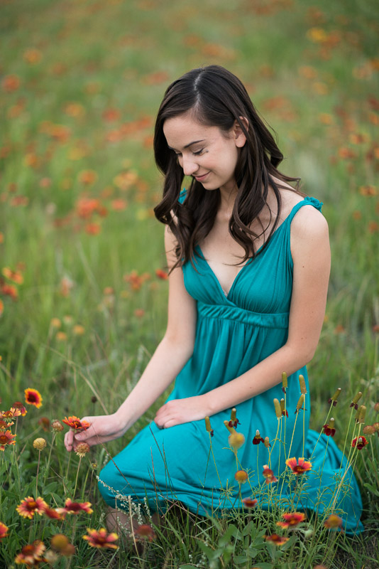 San Francisco high school senior photos field of flowers