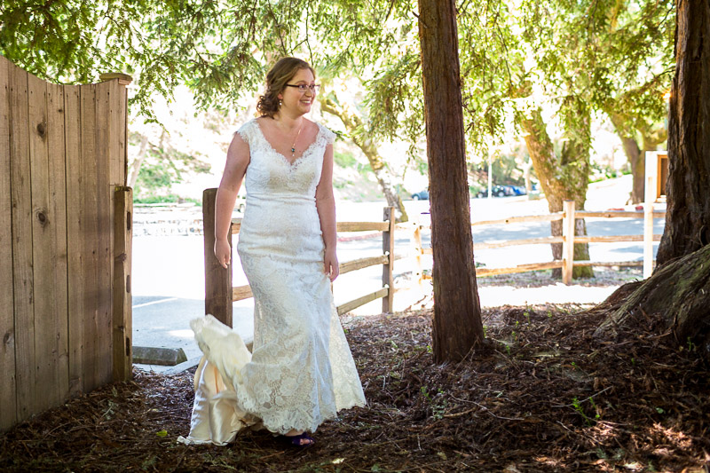 San Francisco Wedding Photography Villa Chanticleer bride first look